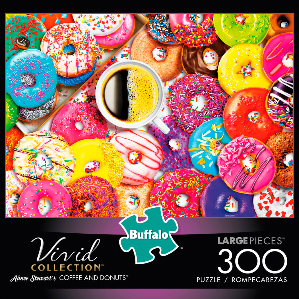 Puzzle (300pc) Vivid : Coffee and Donuts