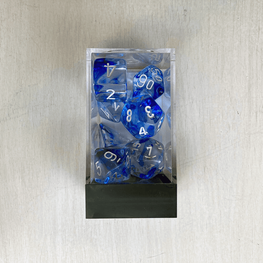 Dice 7-set Nebula (16mm) 27466 Blue / White