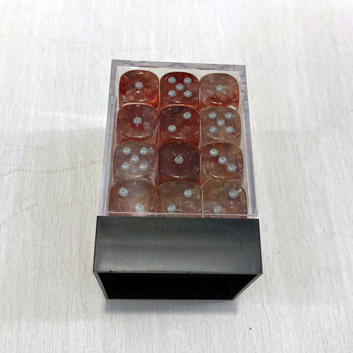 Dice Set 36d6 Nebula (12mm) 27954 Red / Silver
