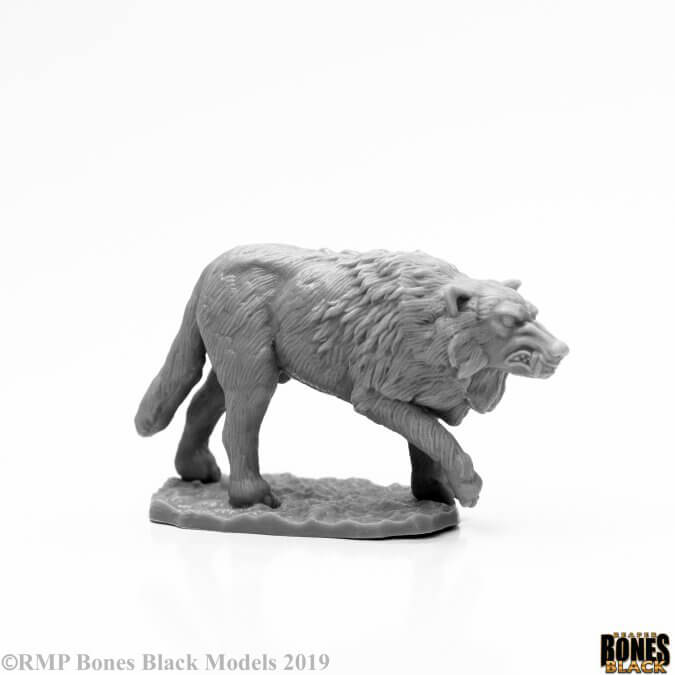 Mini - Reaper Bones Black 44125 Winter Wolf