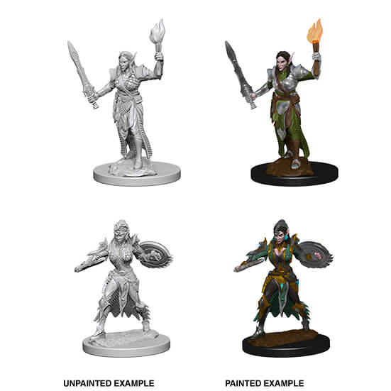 Mini - Pathfinder Deep Cuts : Elf Fighter (Female)
