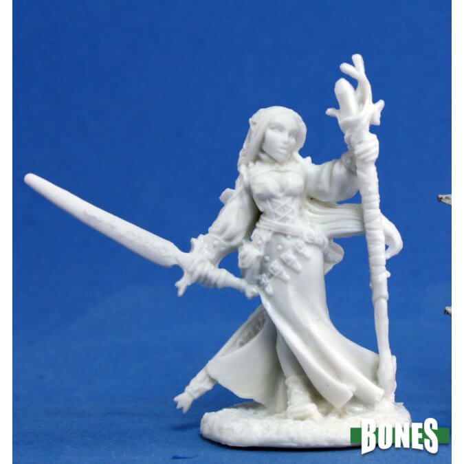 Mini - Reaper Bones 77076 Lysette Female Elf Wizard