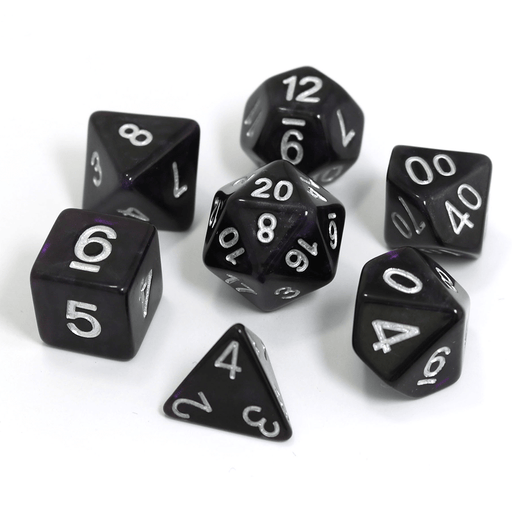 Dice 7-Set Glimmer (16mm) Amethyst