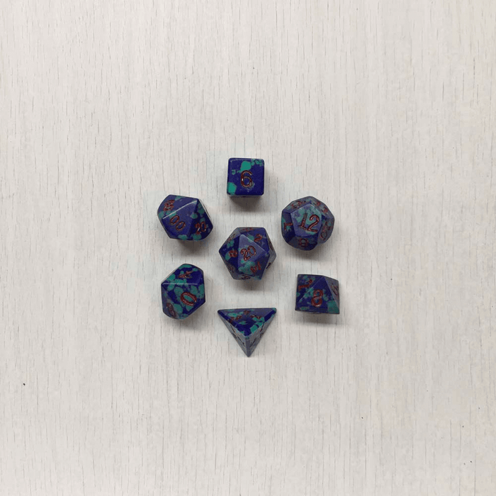 Dice 7-set Dwarven Stones (12mm) Azurite