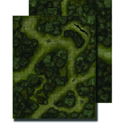Battlemap Pathfinder Flip Mat : Forests