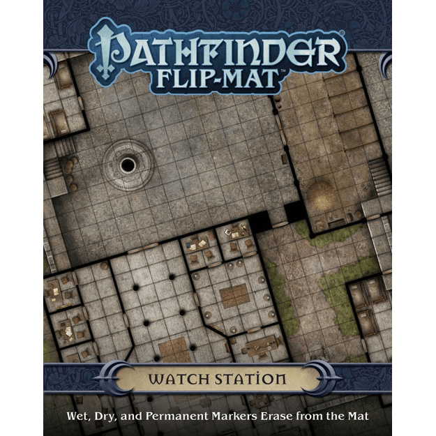 Battlemap Pathfinder Flip Mat : Watch Station