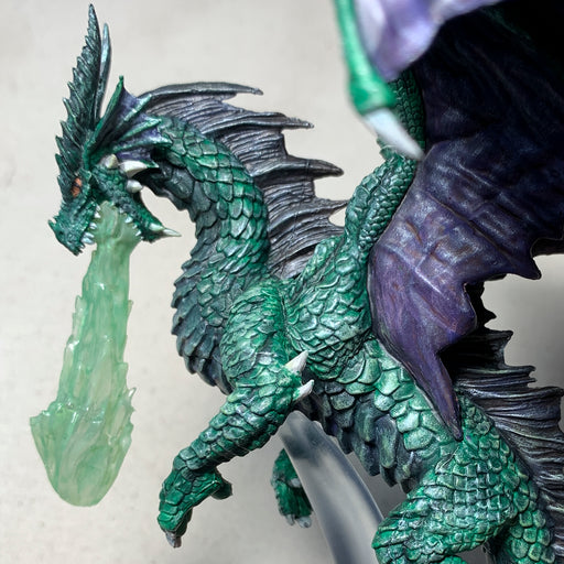 Pro Painted Mini by Lauren Bilanko | Bergamont the Emerald Dragon