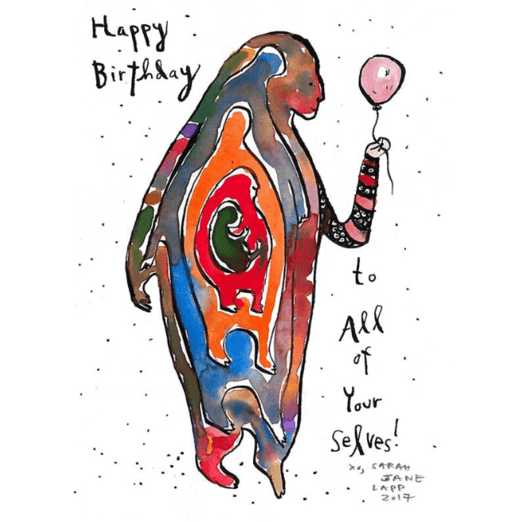 Greeting Card (5x7in) Birthday Selves