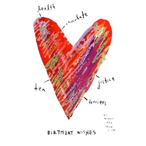 Greeting Card (5x7in) Birthday Wishes