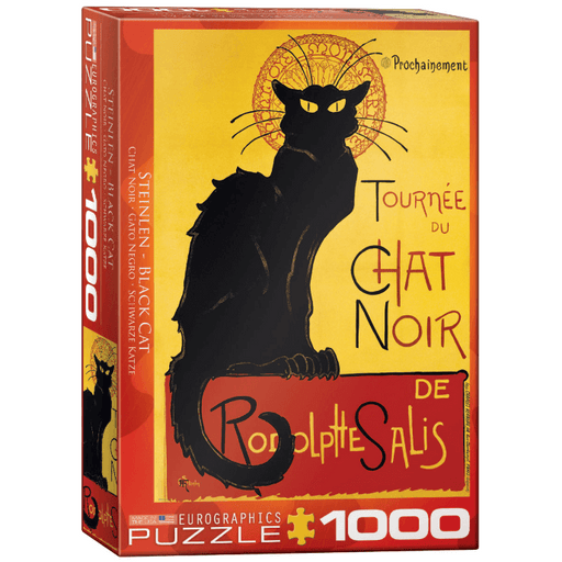 Puzzle (1000pc) Black Cat by T.A. Steinlen