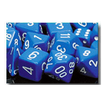 Dice Set 36d6 Opaque (12mm) 25806 Blue / White