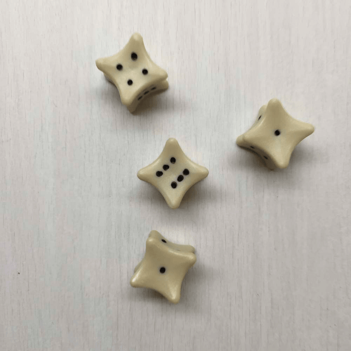 Polyhedral Dice d6 (16mm) Bone