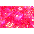 Dice 7-set Borealis (16mm) 27404 Pink / Silver