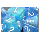 Dice Set 12d6 Borealis (16mm) 27626 Sky Blue / White