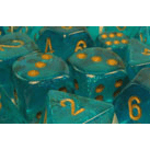 Dice 7-set Borealis (16mm) 27486 Teal / Gold