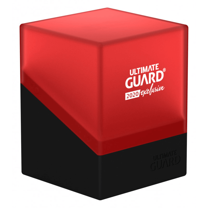 Deck Box Ultimate Guard Boulder (100ct) Black & Red