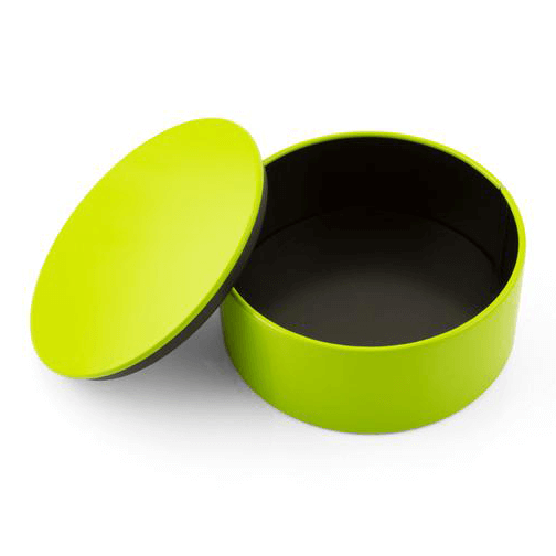 Boxie Minibox Round Tin : Spring Green / Black