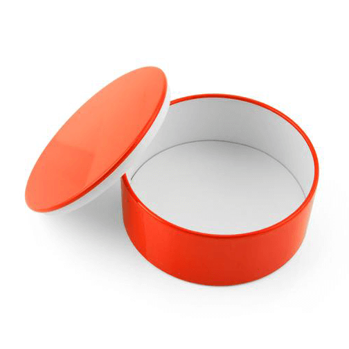 Boxie Minibox Round Tin : Red / White