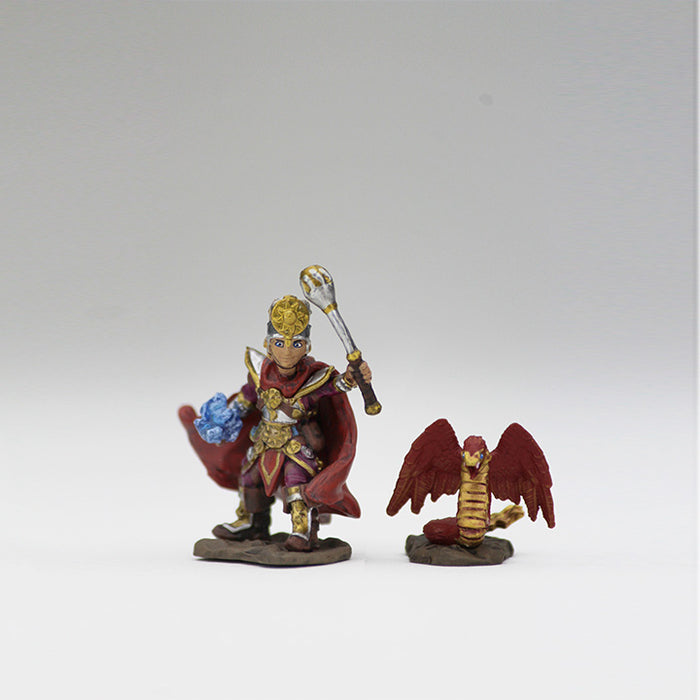 Mini - Wardlings : Boy Cleric and Winged Snake