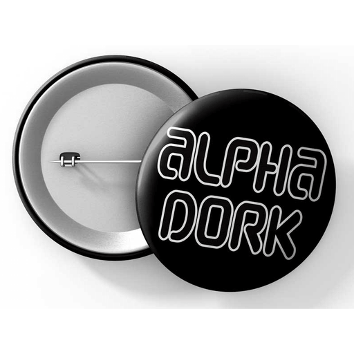 "Button (1.25"") G018 Alpha Dork"