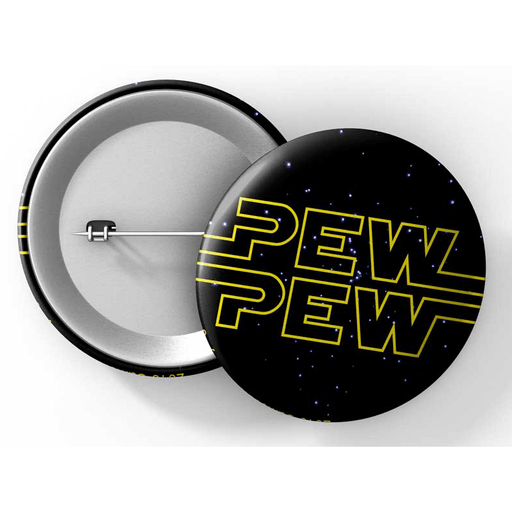 "Button (1.25"") G024 Pew Pew"