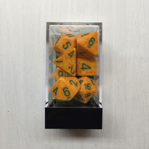 Dice 7-set Speckled (16mm) 25312 Lotus