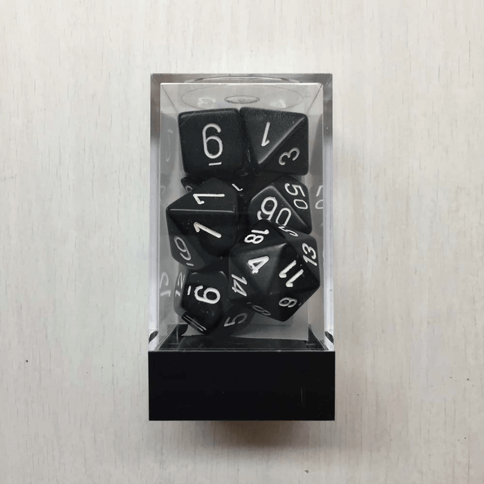 Dice 7-set Opaque (16mm) 25408 Black / White
