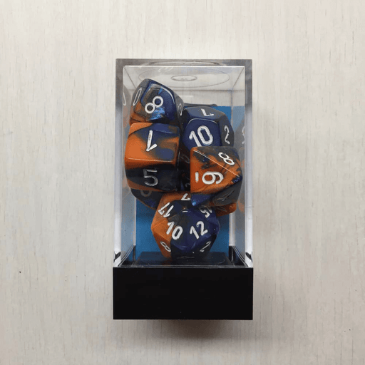 Dice 7-set Gemini (16mm) 26452 Blue-Orange / White