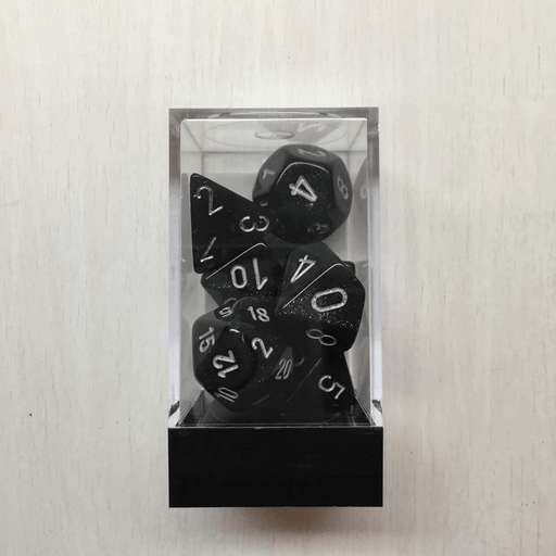 Dice 7-set Borealis (16mm) 27428 Smoke / Silver