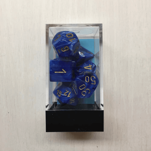 Dice 7-set Vortex (16mm) 27436 Blue / Gold