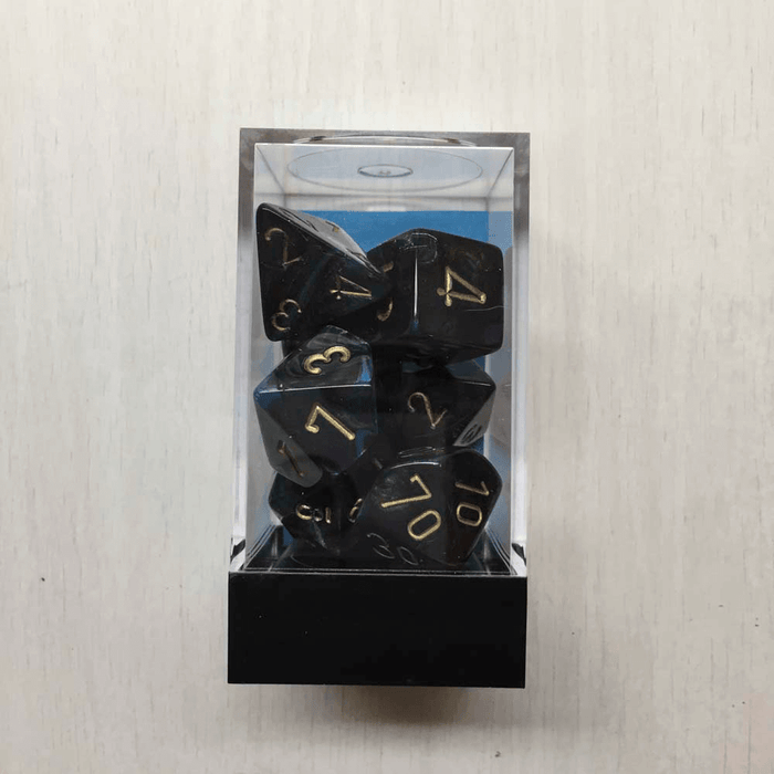 Dice 7-set Lustrous (16mm) 27499 Shadow / Gold