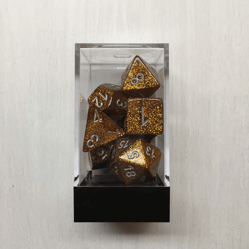 Dice 7-set Glitter (16mm) 27503 Gold / Silver