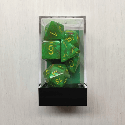Dice 7-set Vortex (16mm) 27515 Slime / Yellow