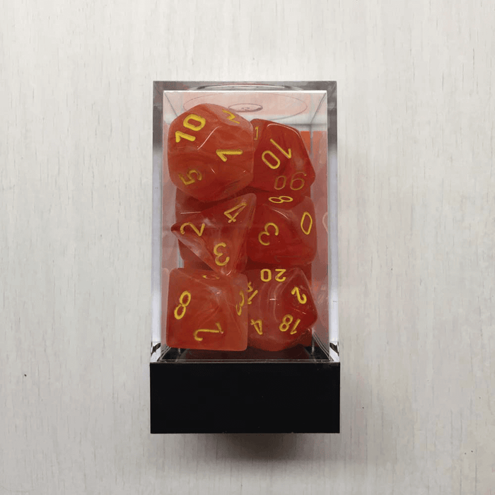 Dice 7-set Ghostly Glow (16mm) 27523 Orange / Yellow