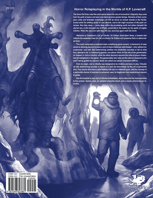 Call of Cthulhu (7th ed) Quick Start