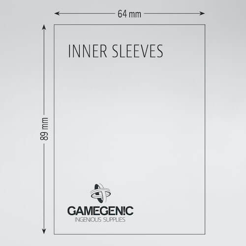 Sleeves Gamegenic Inner Sleeves (64x89mm 100ct) Clear