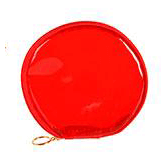 Carry All Pouch (5in) Round Translucent Red