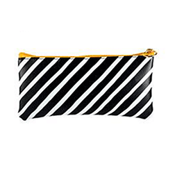 Carry All Pouch (8x4in) Black & White Stripe