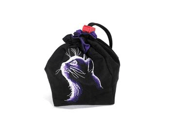 Dice Bag Glow in the Dark (4x4x6in) Cat : Black
