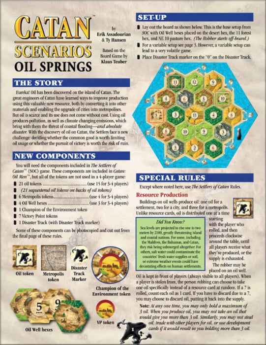 Catan Scenarios : Oil Springs