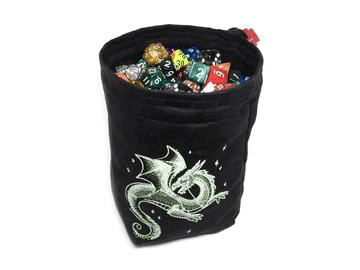 Dice Bag Glow in the Dark (4x4x6in) Celestial Dragon : Black
