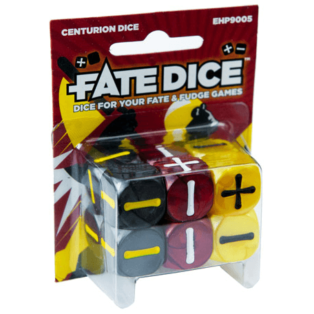 Fate Dice Set 12d6 (16mm) Centurion
