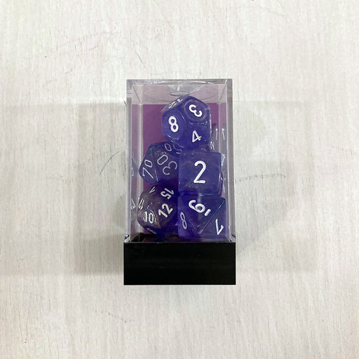 Dice 7-set Borealis (16mm) 27577 Purple / White