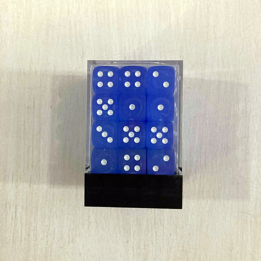 Dice Set 36d6 Frosted (12mm) 27806 Blue / White