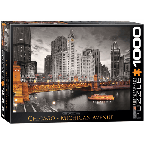 Puzzle (1000pc) City : Chicago Michigan Avenue