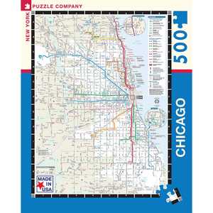 Puzzle (500pc) Map : Chicago Transit