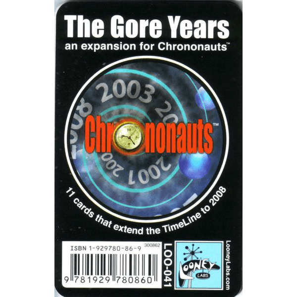 Chrononauts Booster : The Gore Years