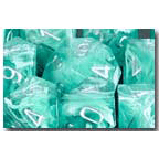 Dice 7-set Cirrus (16mm) 27465 Aqua / Silver