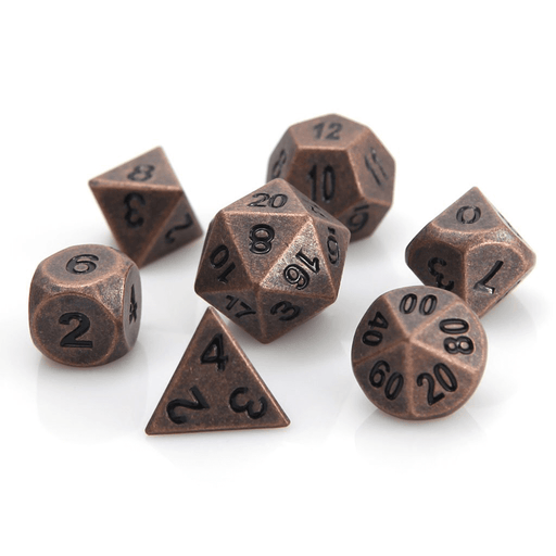 Dice 7-set Metal Classic (16mm) Ancient Copper