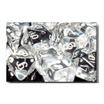 Dice Set 36d6 Translucent (12mm) 23801 Clear / White